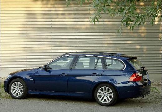BMW Seria 3 Touring E91 I kombi niebieski jasny tylny lewy