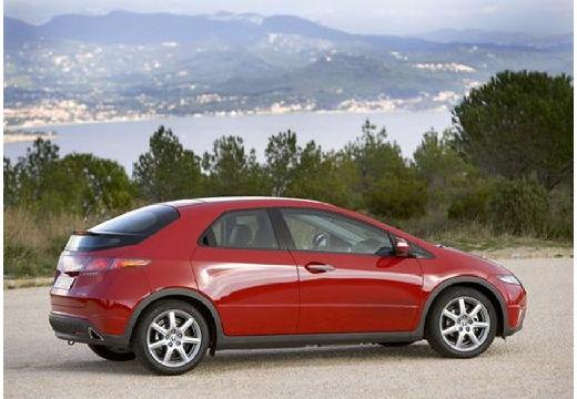 HONDA Civic VI hatchback czerwony jasny boczny prawy