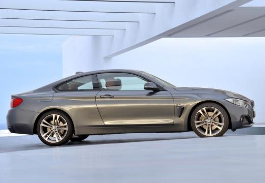 BMW Seria 4 F32 coupe silver grey boczny prawy