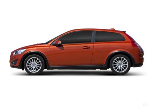 VOLVO C30 II hatchback pomarańczowy boczny lewy