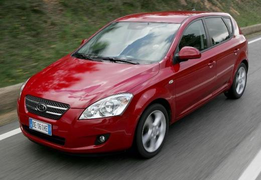KIA Ceed I hatchback czerwony jasny przedni lewy