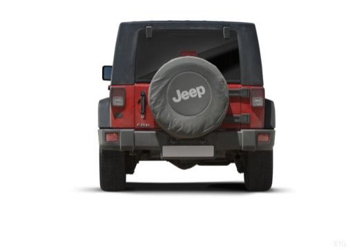 JEEP Wrangler III soft top czerwony jasny tylny