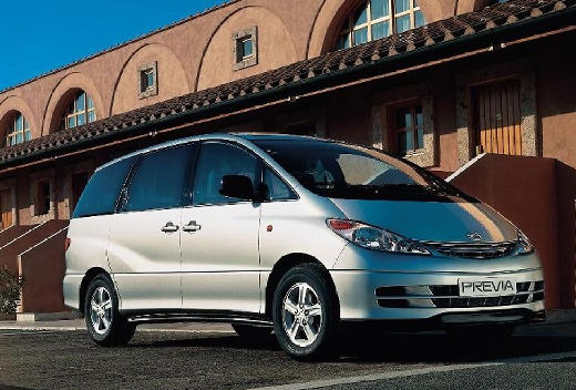 Toyota Previa van silver grey przedni prawy