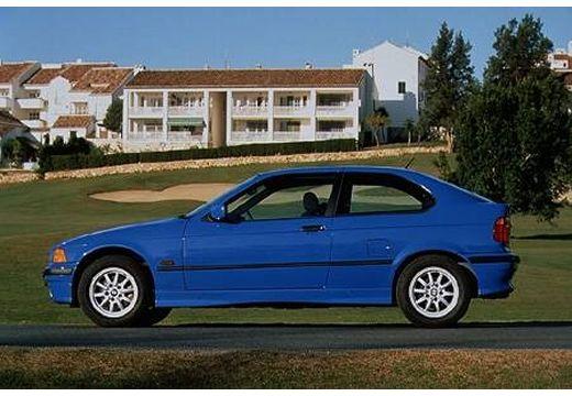 BMW Seria 3 Compact E36 hatchback niebieski jasny boczny lewy