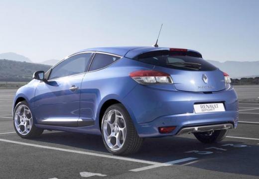 RENAULT Megane III Coupe I hatchback niebieski jasny tylny lewy