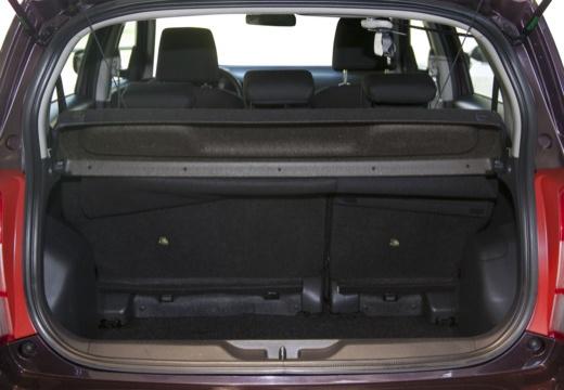 Toyota Urban Cruiser I hatchback fioletowy przestrzeń załadunkowa