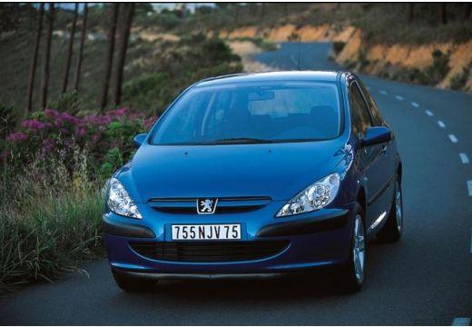 PEUGEOT 307 I hatchback niebieski jasny przedni lewy