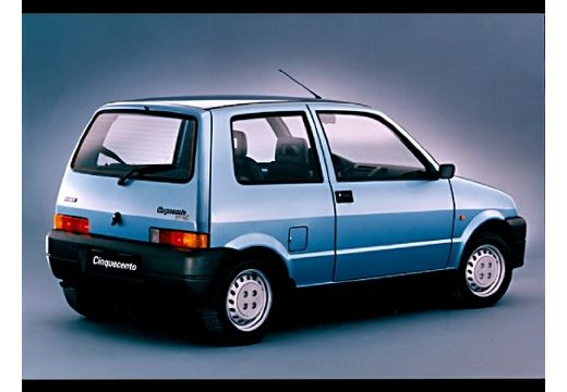 FIAT Cinquecento I hatchback niebieski jasny tylny prawy