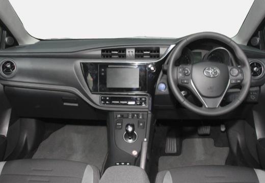 Toyota Auris TS II kombi niebieski jasny tablica rozdzielcza