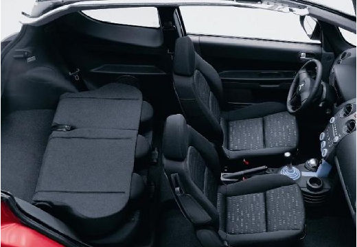 MITSUBISHI Colt V hatchback czerwony jasny wnętrze