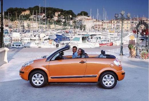 CITROEN C3 Pluriel hatchback pomarańczowy boczny lewy