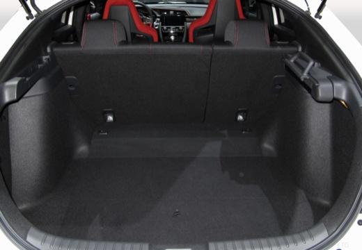 HONDA Civic X hatchback przestrzeń załadunkowa