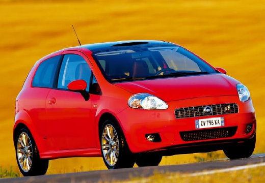 FIAT Punto Grande hatchback czerwony jasny przedni prawy
