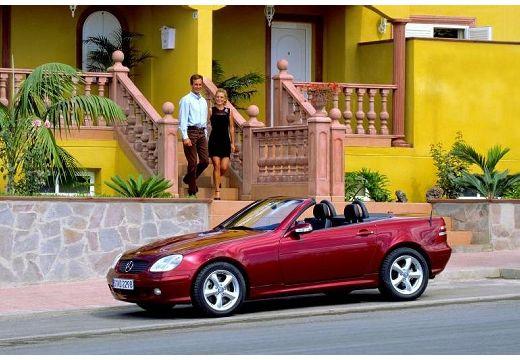 MERCEDES-BENZ Klasa SLK SLK R 170 kabriolet bordeaux (czerwony ciemny) przedni lewy