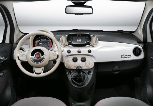 FIAT 500 hatchback biały tablica rozdzielcza