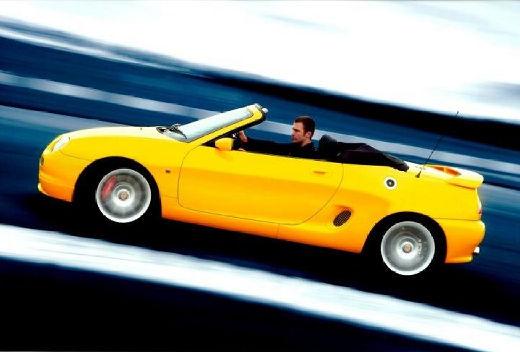 MG F I roadster żółty boczny lewy