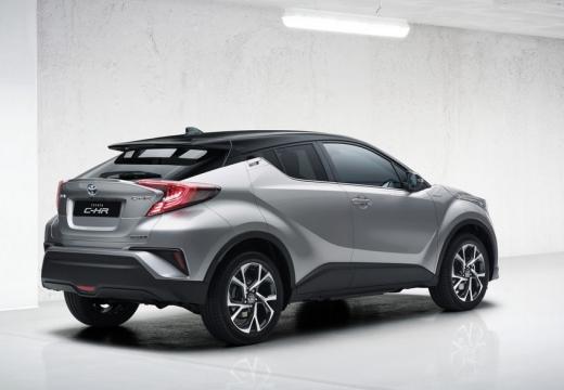 Toyota C-HR hatchback silver grey tylny prawy