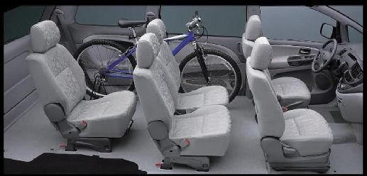 Toyota Previa van wnętrze