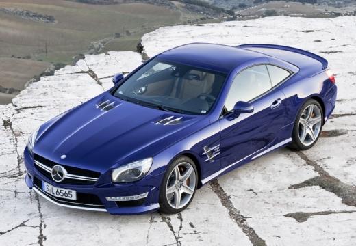 MERCEDES-BENZ Klasa SL roadster niebieski jasny przedni lewy