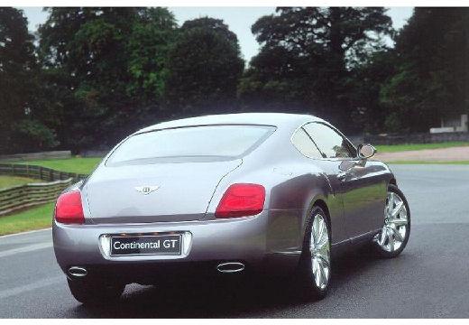 BENTLEY Continental coupe silver grey tylny prawy