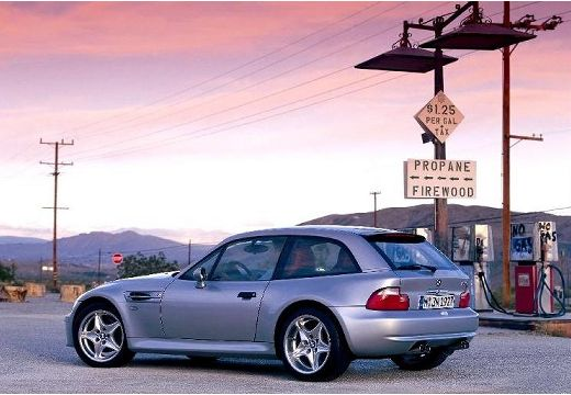 BMW Z3 coupe silver grey tylny lewy