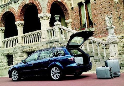 MAZDA 6 Sport II kombi niebieski jasny tylny lewy