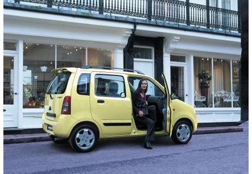 SUZUKI Wagon R+ hatchback żółty tylny prawy