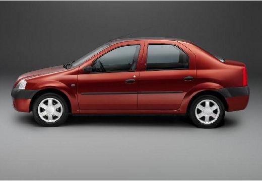 DACIA Logan I sedan bordeaux (czerwony ciemny) boczny lewy