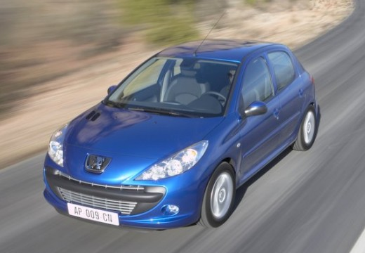 PEUGEOT 206+ hatchback niebieski jasny przedni lewy