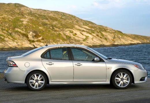 SAAB 9-3 Sport II sedan silver grey boczny prawy