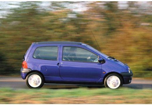 RENAULT Twingo II hatchback niebieski jasny boczny prawy
