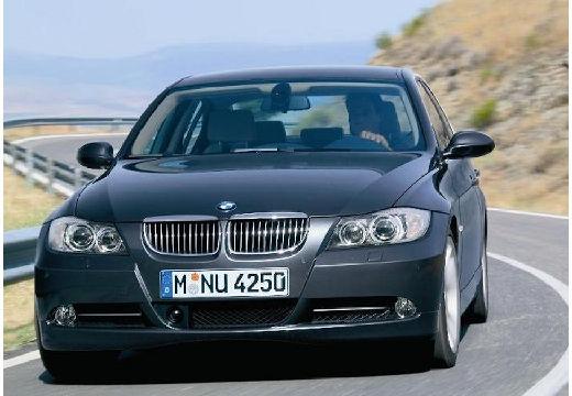 BMW Seria 3 E90 I sedan szary ciemny przedni lewy