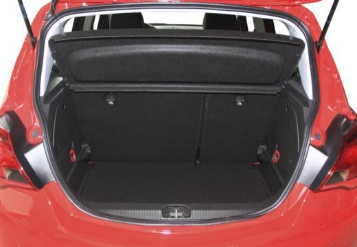 OPEL Corsa E hatchback czerwony jasny przestrzeń załadunkowa