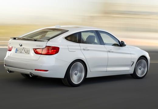 BMW Seria 3 Gran Turismo hatchback biały tylny prawy