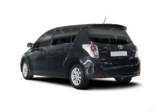 Toyota Verso I kombi mpv czarny tylny lewy