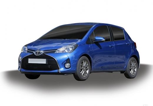 Toyota Yaris hatchback niebieski jasny