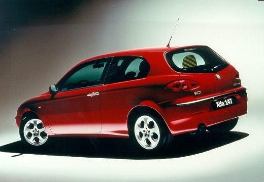 ALFA ROMEO 147 hatchback bordeaux (czerwony ciemny) tylny lewy