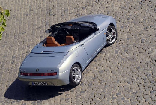 ALFA ROMEO Spider IV kabriolet silver grey tylny prawy