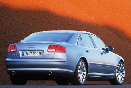 AUDI A8 sedan silver grey tylny lewy