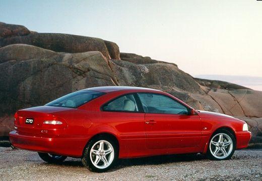 VOLVO C70 coupe czerwony jasny tylny prawy