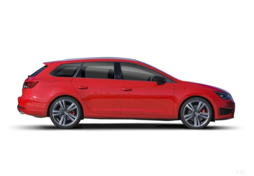 SEAT Leon ST I kombi czerwony jasny boczny prawy