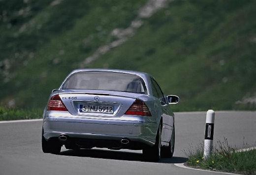 MERCEDES-BENZ Klasa CL coupe silver grey tylny prawy