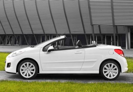 PEUGEOT 207 kabriolet biały boczny lewy