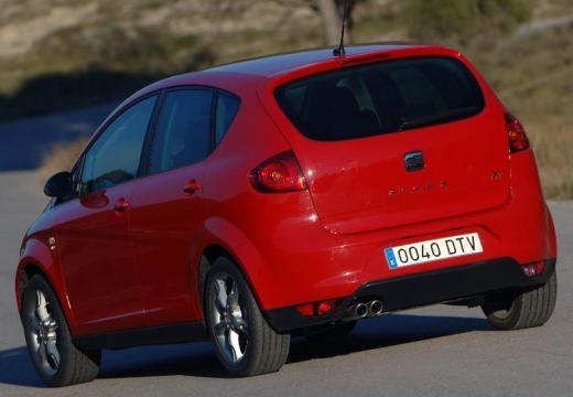 SEAT Altea I hatchback czerwony jasny tylny lewy