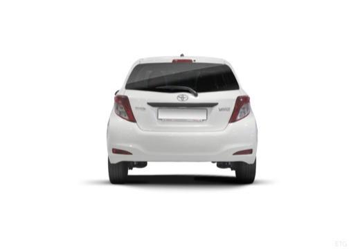 Toyota Yaris V hatchback biały tylny