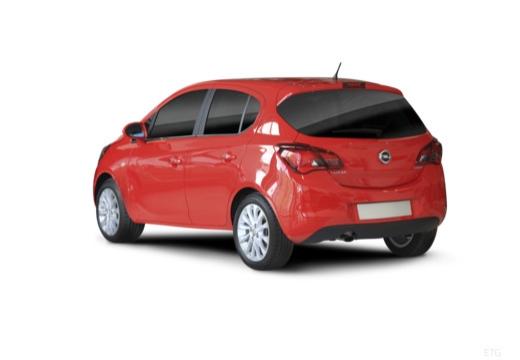 OPEL Corsa E hatchback czerwony jasny tylny lewy