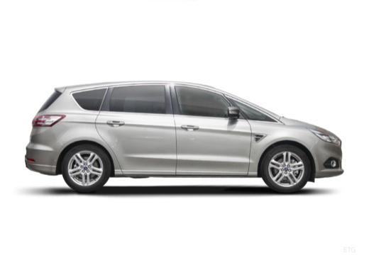 FORD S-MAX van silver grey boczny prawy