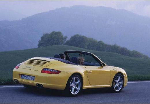 PORSCHE 911 Cabrio 997 kabriolet żółty tylny prawy