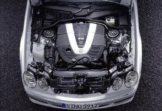 MERCEDES-BENZ Klasa CL 215 coupe silver grey silnik