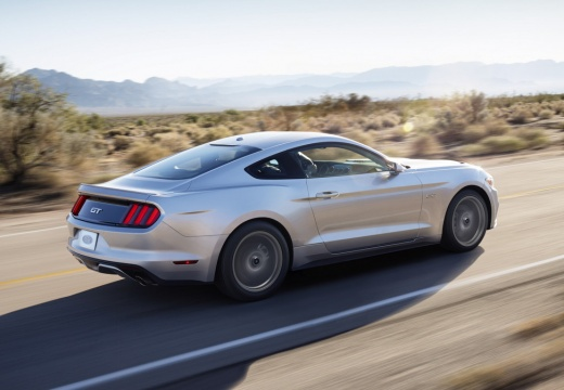 FORD Mustang Fastback I coupe silver grey tylny prawy